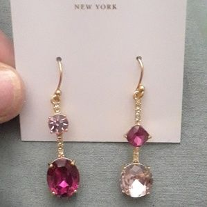 Kate Spade PINK RHINESTONE NWT EARRINGS !!